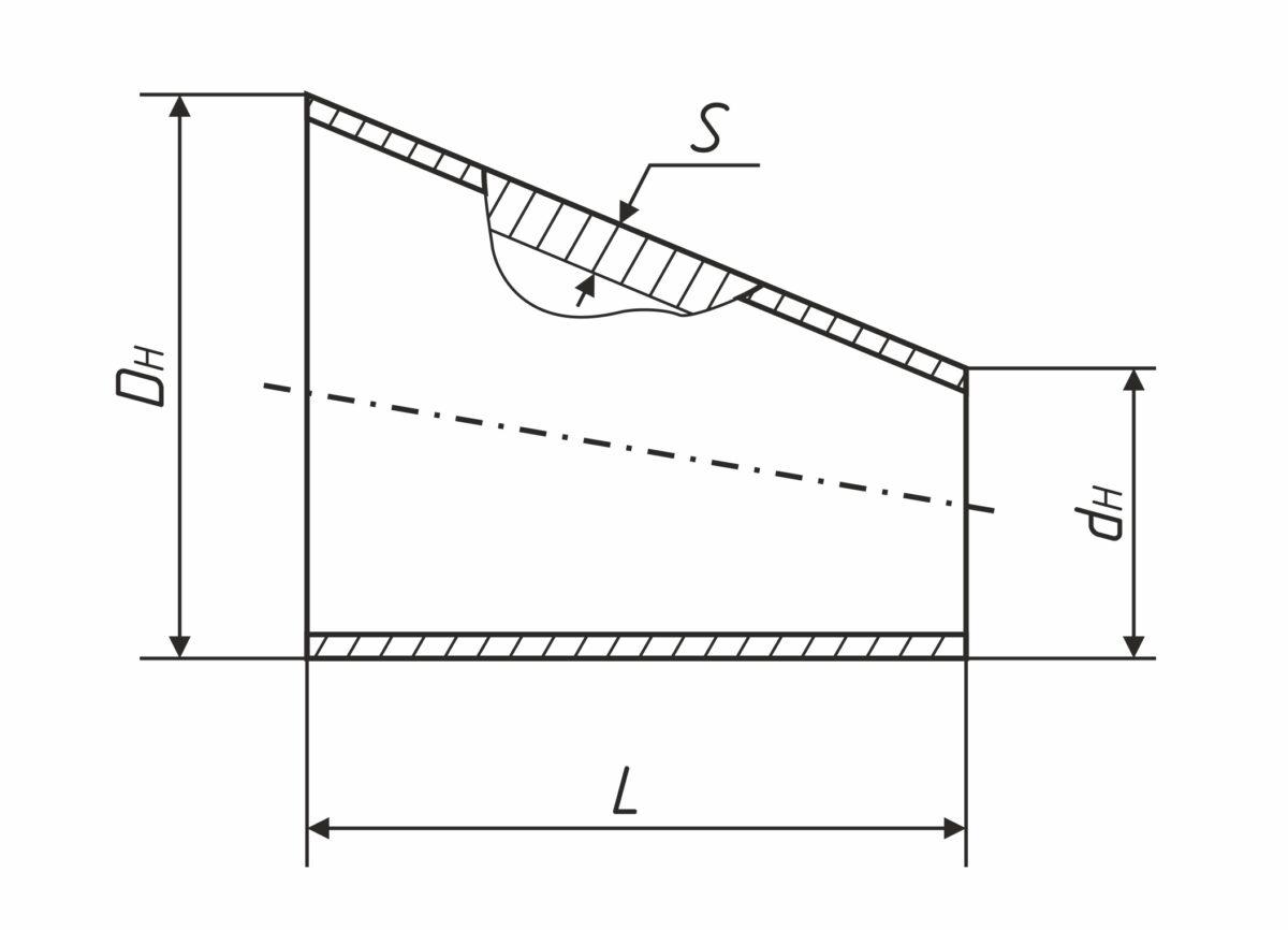 Переходы стальные эксцентрические — Завод по производству труб ТрубСталь